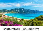 amazing view at agios georgios... | Shutterstock . vector #1236084295