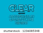 modern transparent font design  ... | Shutterstock .eps vector #1236085348