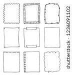 set of hand drawn doodle frames | Shutterstock .eps vector #1236091102