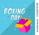 boxing day sale | Shutterstock .eps vector #1236093538