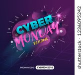 cyber monday sale promotion... | Shutterstock .eps vector #1236095242