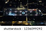 aerial drone night view of... | Shutterstock . vector #1236099292
