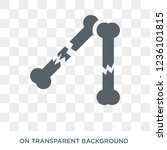 fracture icon. trendy flat... | Shutterstock .eps vector #1236101815