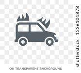 burning car icon. trendy flat... | Shutterstock .eps vector #1236101878