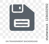 floppy disk upside down icon.... | Shutterstock .eps vector #1236102502