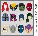super hero mask icon. editable... | Shutterstock .eps vector #123610648