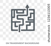 strategy in a labyrinth icon.... | Shutterstock .eps vector #1236113305