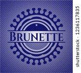 brunette with denim texture | Shutterstock .eps vector #1236117835