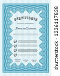 light blue certificate template.... | Shutterstock .eps vector #1236117838