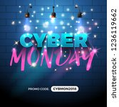 cyber monday sale promotion... | Shutterstock .eps vector #1236119662