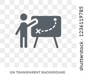 businessman and tactics icon.... | Shutterstock .eps vector #1236119785