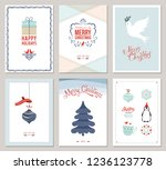 merry christmas and happy... | Shutterstock .eps vector #1236123778