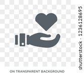 charity icon. charity design... | Shutterstock .eps vector #1236128695