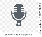 voice recording icon. voice... | Shutterstock .eps vector #1236128725