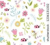 summer forest floral seamless...   Shutterstock .eps vector #1236131332
