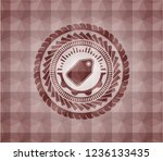 tag icon inside red seamless...   Shutterstock .eps vector #1236133435