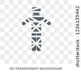 Mummy icon. Mummy design concept from  collection. Simple element vector illustration on transparent background.