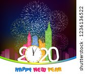 happy new year 2020 background... | Shutterstock .eps vector #1236136522
