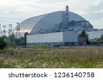 reactor 4 at the chernobyl... | Shutterstock . vector #1236140758