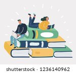 vector cartoon illustration of... | Shutterstock .eps vector #1236140962