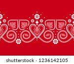 folklore floral nordic... | Shutterstock .eps vector #1236142105