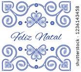 nordic folk art season card...   Shutterstock .eps vector #1236143458