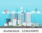 modern city life. modern... | Shutterstock .eps vector #1236143692