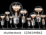 photo of light bulbs with... | Shutterstock . vector #1236144862