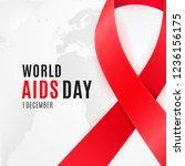 world aids day poster design... | Shutterstock .eps vector #1236156175