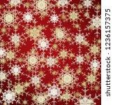 2d illustration. snowflakes... | Shutterstock . vector #1236157375
