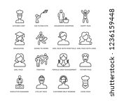 set of 16 people line icons... | Shutterstock .eps vector #1236159448