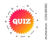 quiz star sign icon. questions... | Shutterstock .eps vector #1236180382