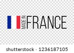 made in france  french flag... | Shutterstock .eps vector #1236187105