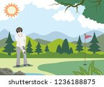 design golfers who are playing... | Shutterstock .eps vector #1236188875