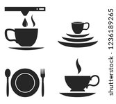 breakfast morning related icons ... | Shutterstock .eps vector #1236189265