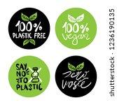 zero waste  plastic free  vegan ... | Shutterstock .eps vector #1236190135