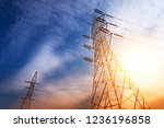 high voltage post or high... | Shutterstock . vector #1236196858