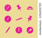 sharp icon. sharp vector icons... | Shutterstock .eps vector #1236202735