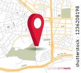 vector flat abstract city map ... | Shutterstock .eps vector #1236208198