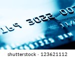 credit card in blue tone.... | Shutterstock . vector #123621112