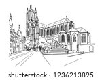 vector sketch of  the saint... | Shutterstock .eps vector #1236213895