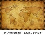 old world map in vintage style. ...   Shutterstock . vector #1236214495