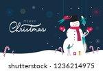 merry christmas web banner or... | Shutterstock .eps vector #1236214975