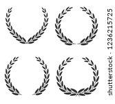 laurel wreaths of different... | Shutterstock .eps vector #1236215725
