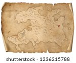 treasure medieval map isolated... | Shutterstock . vector #1236215788