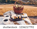 picnic lunch with landscape... | Shutterstock . vector #1236217792
