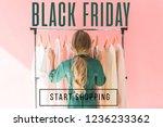 rear view of blonde kid in...   Shutterstock . vector #1236233362