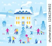 merry christmas and happy new...   Shutterstock .eps vector #1236234832