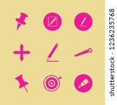 sharp icon. sharp vector icons... | Shutterstock .eps vector #1236235768