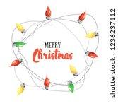 merry christmas  vector... | Shutterstock .eps vector #1236237112